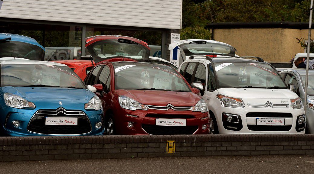 Citroen cars parked together.
