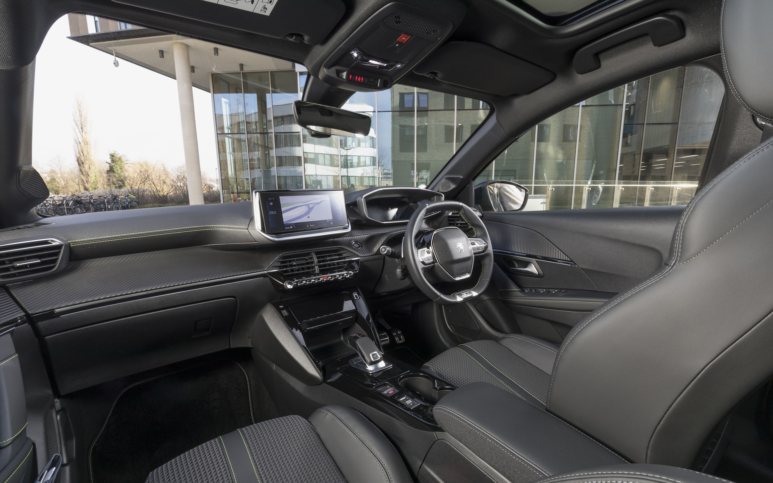 Interior of the Peugeot 208