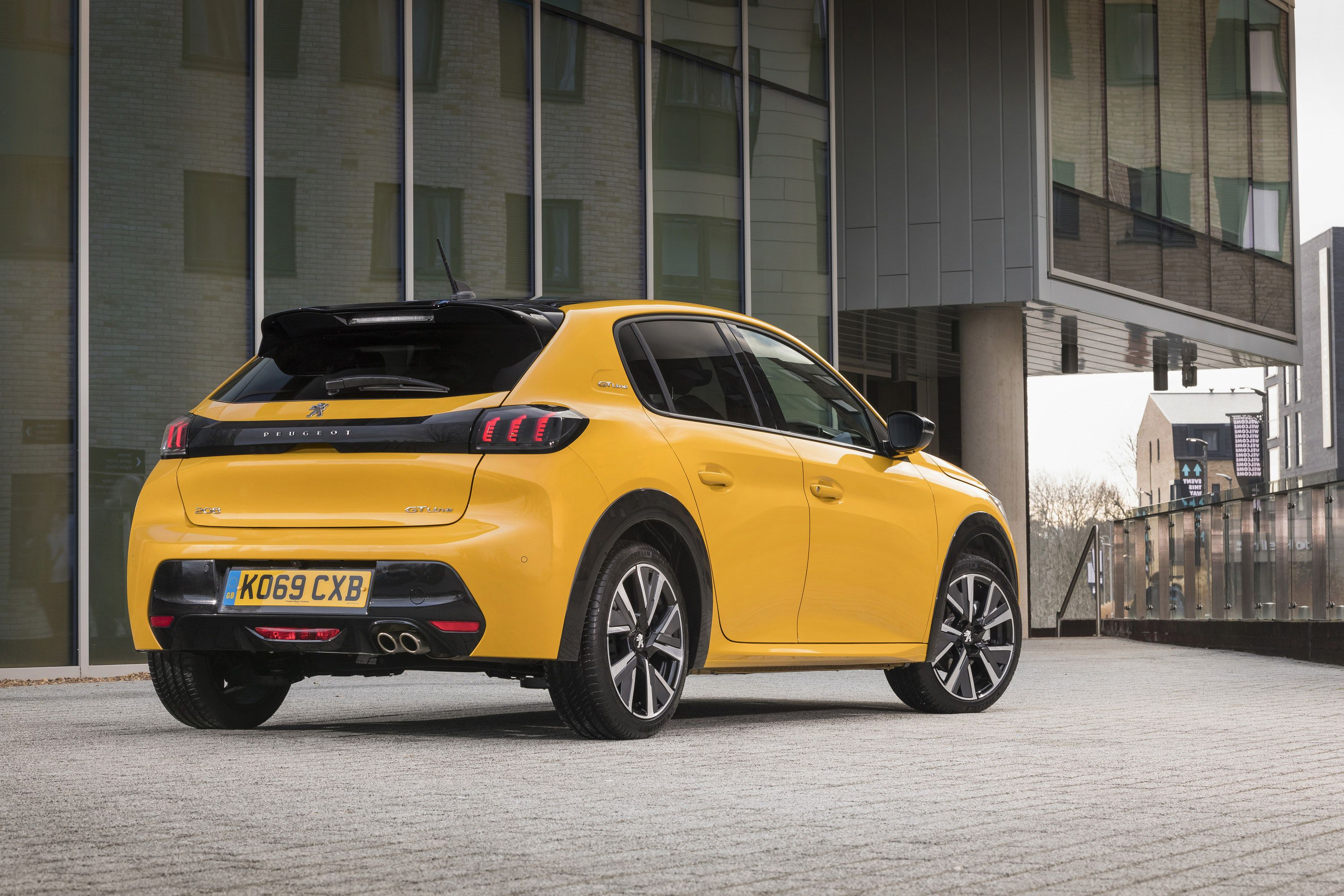 Rear view of New Peugeot 208