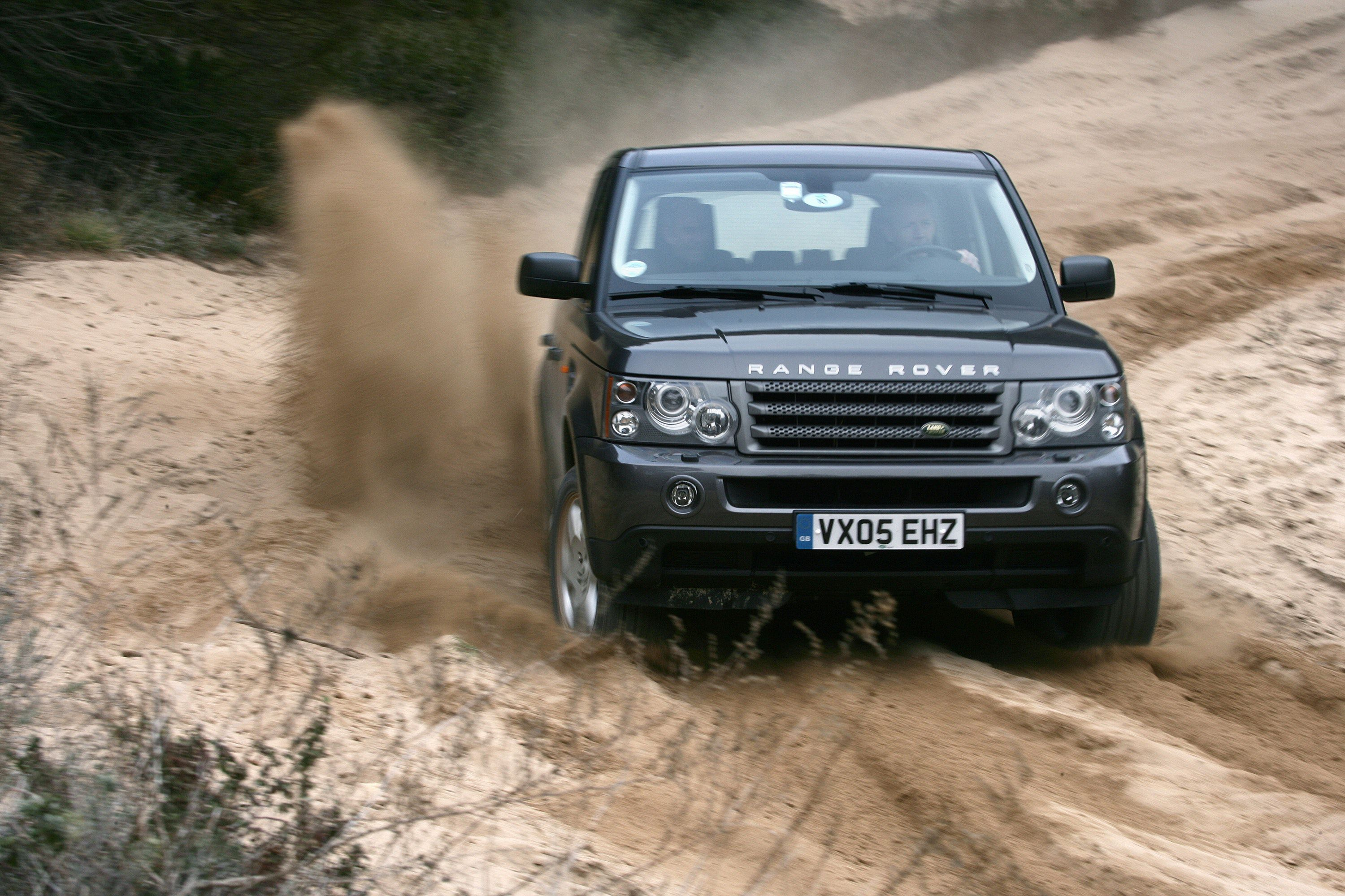 Close up of Range Rover Sport