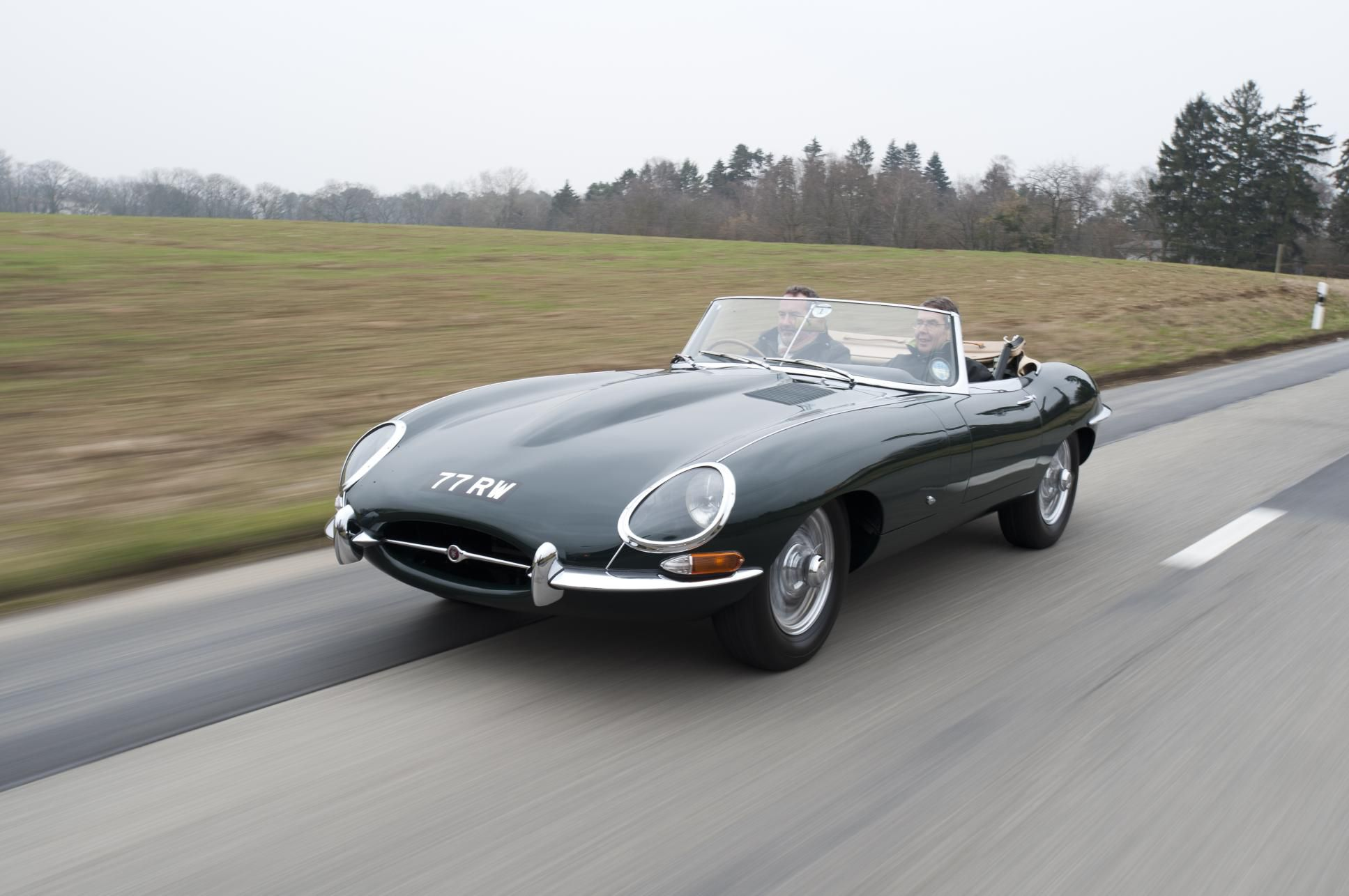 Green Jaguar E-Type