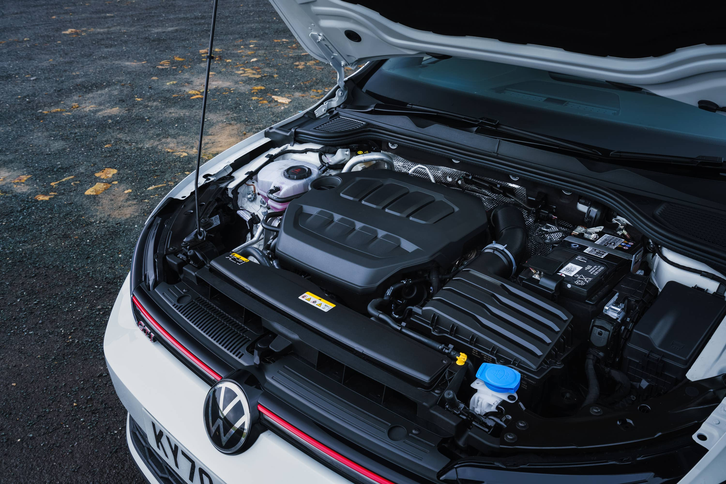 under the bonnet of volkswagen golf gti