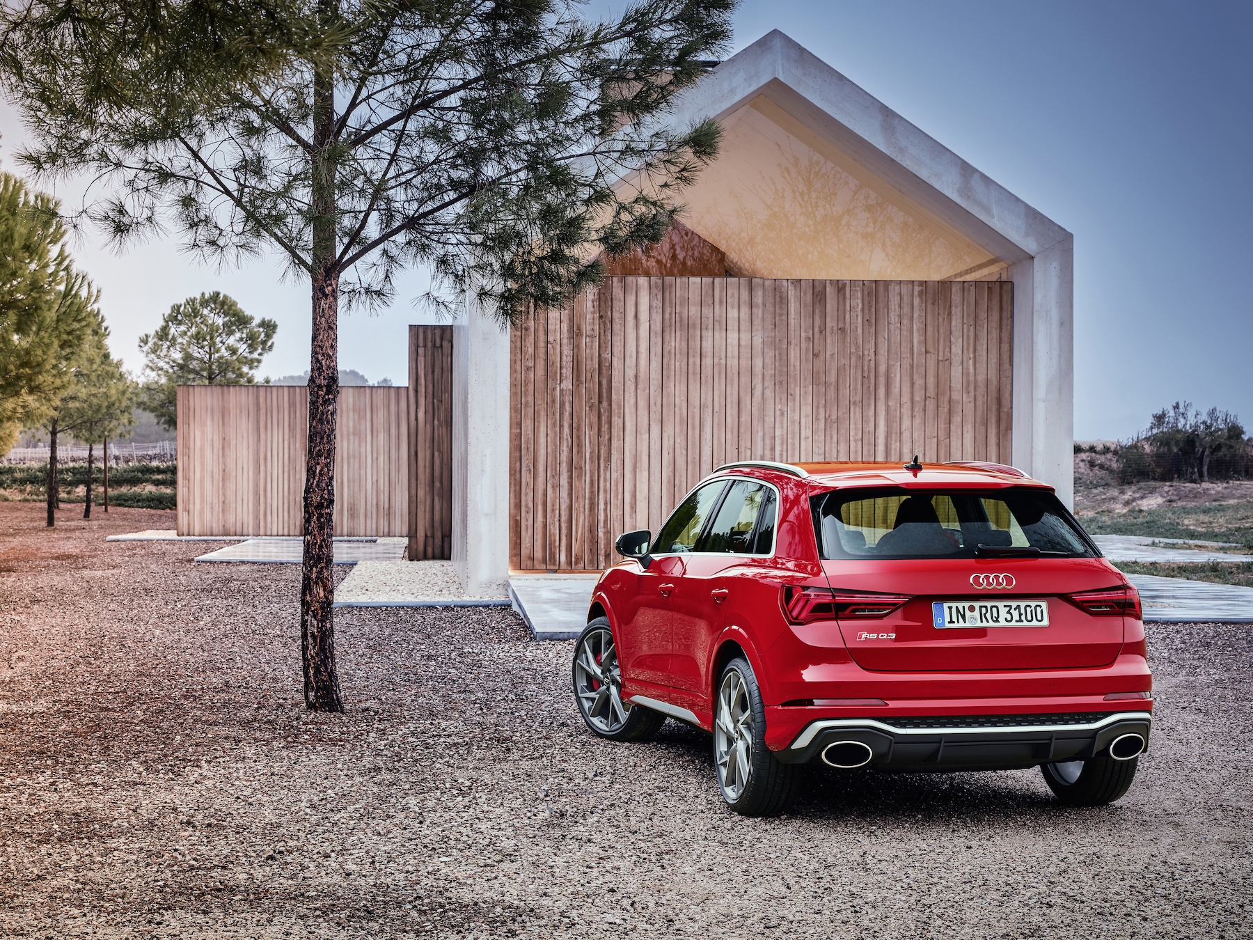Audi performance RSQ3 SUV in red