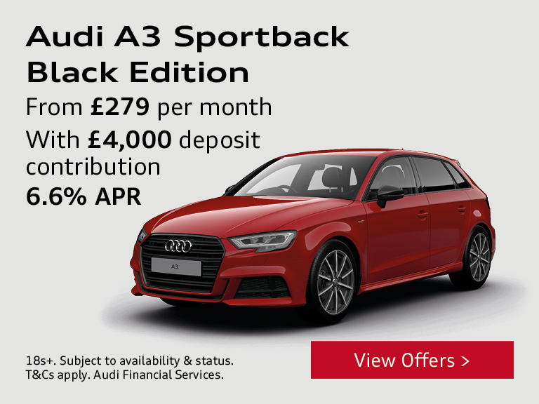 Audi A3 Sportback from £279 per month