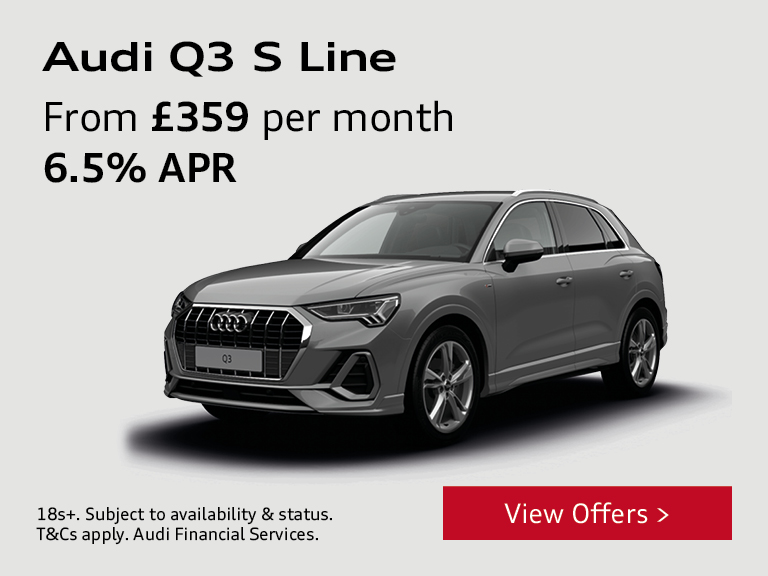 Audi Q3 S Line - From £359 per month