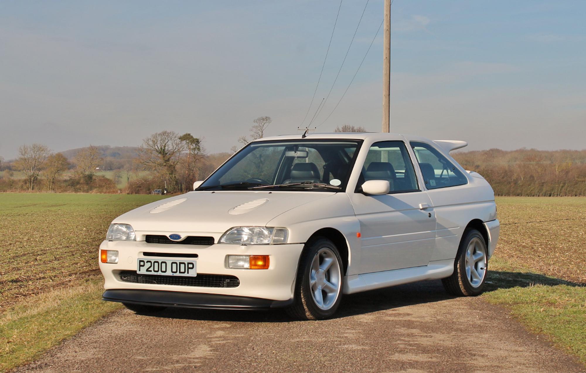 White 1990s Ford Escort Cosworth