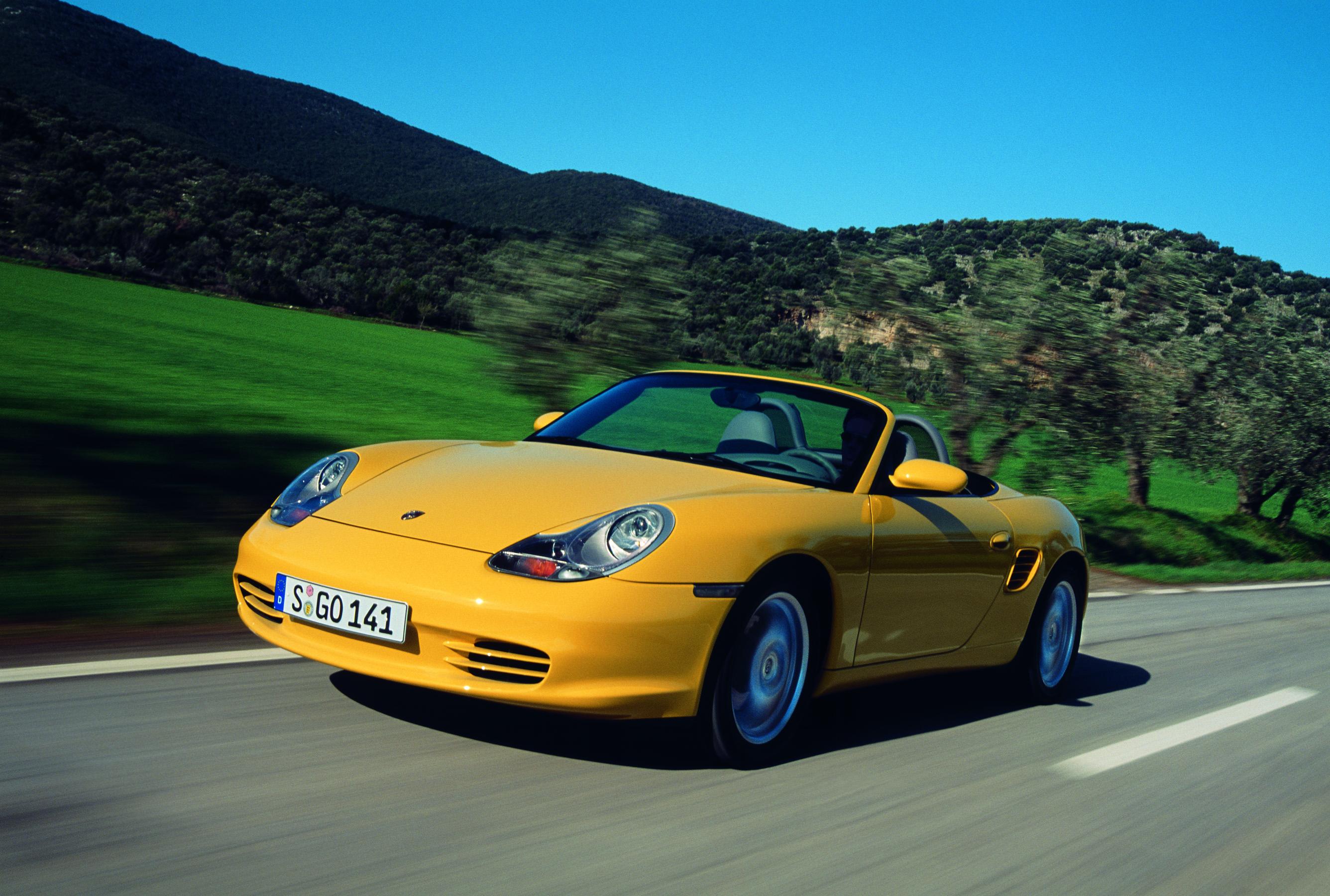 Yellow Porsche Boxster