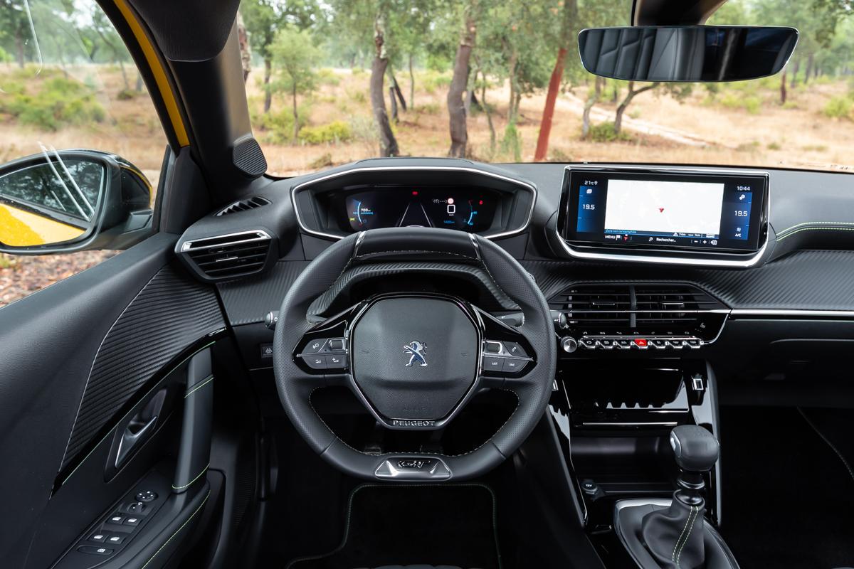Interior of Peugeot 208