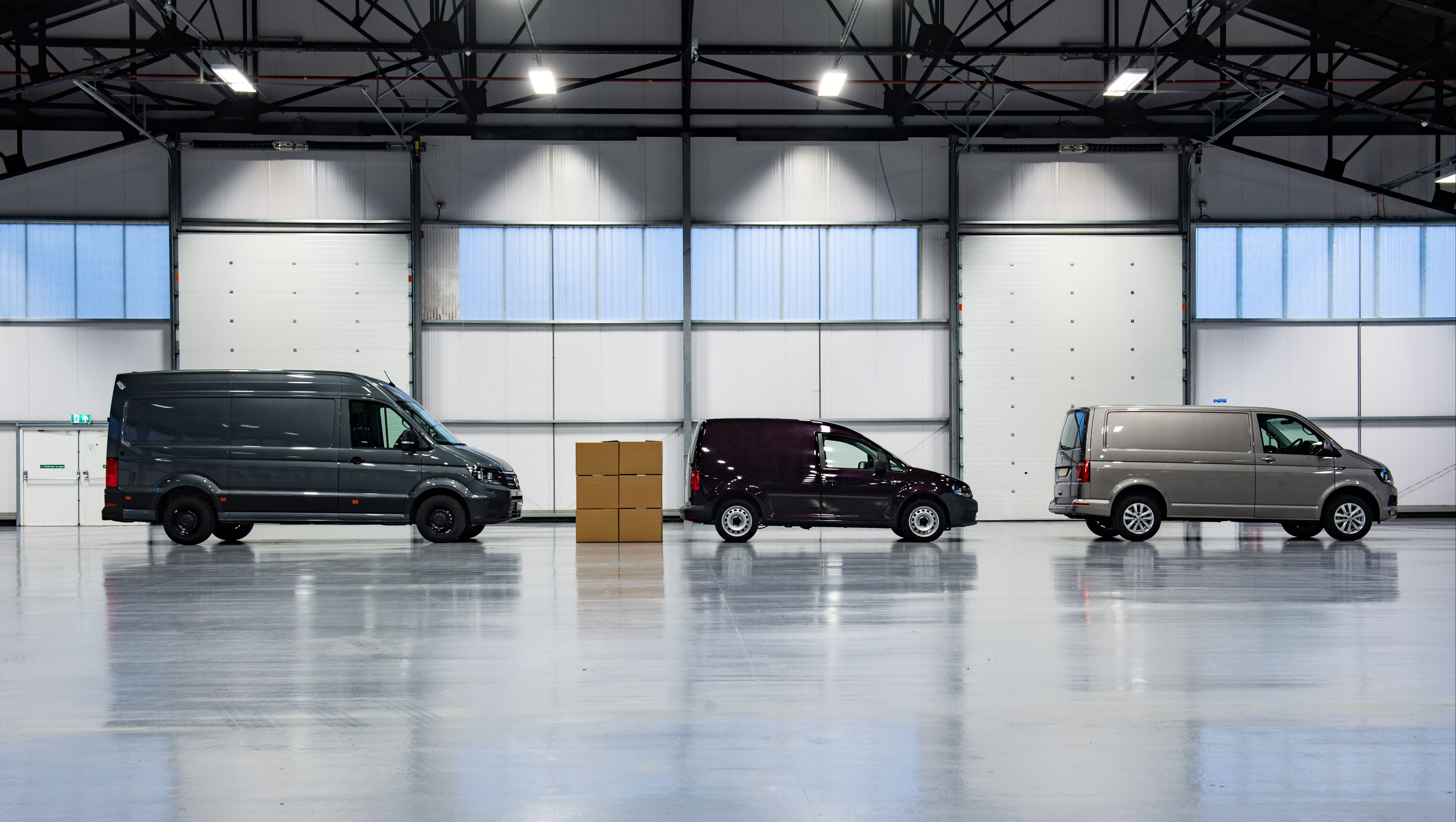 side view of VW Commercial vehicles parking