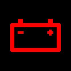 Car warning light battery warning