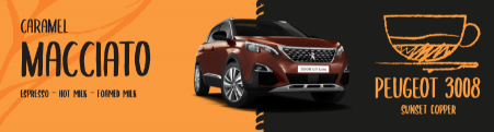 Peugeot 3008 compared to a Caramel Macciato