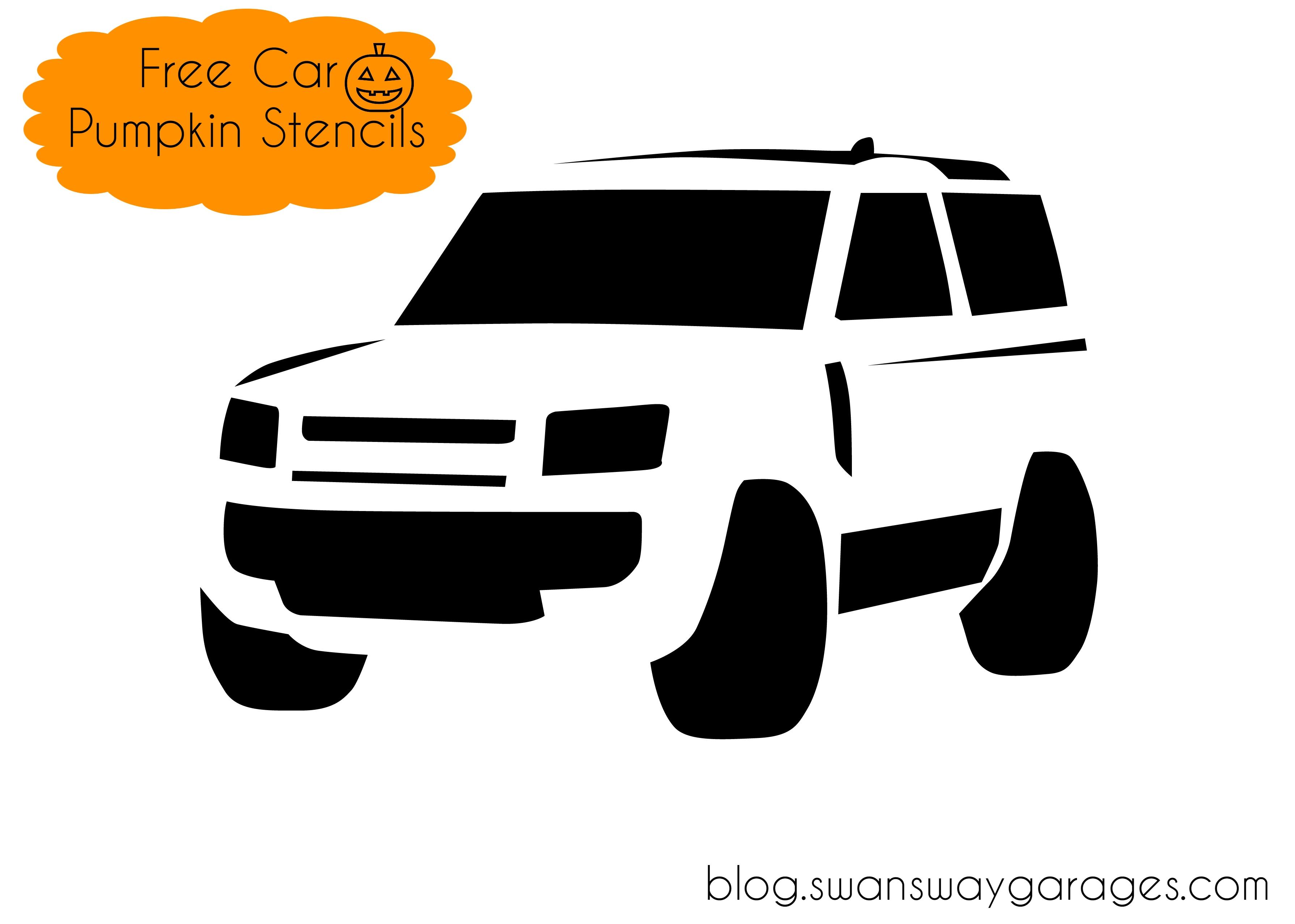 Free Land Rover Defender pumpkin stencil