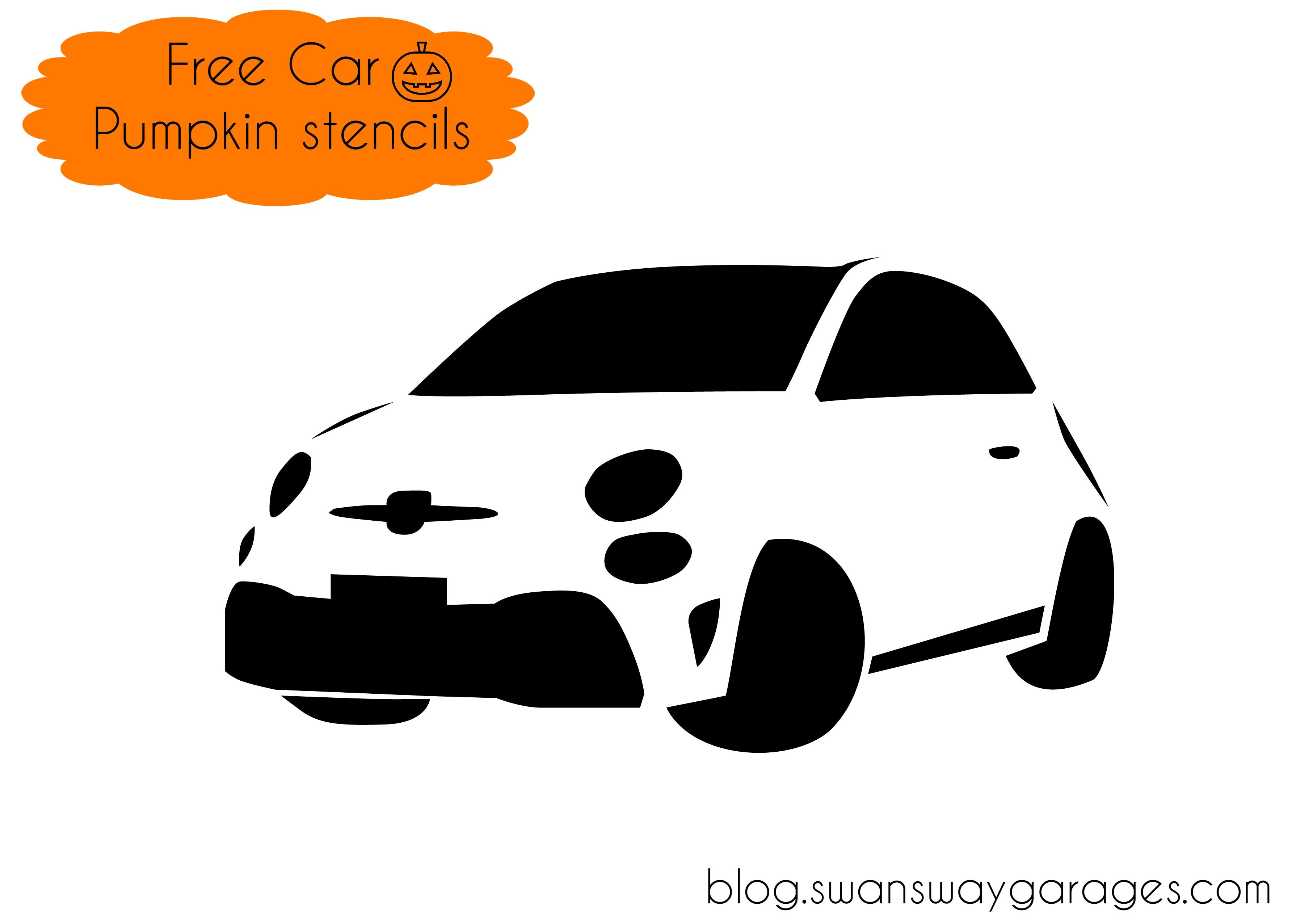 Free Fiat 500 pumpkin stencil