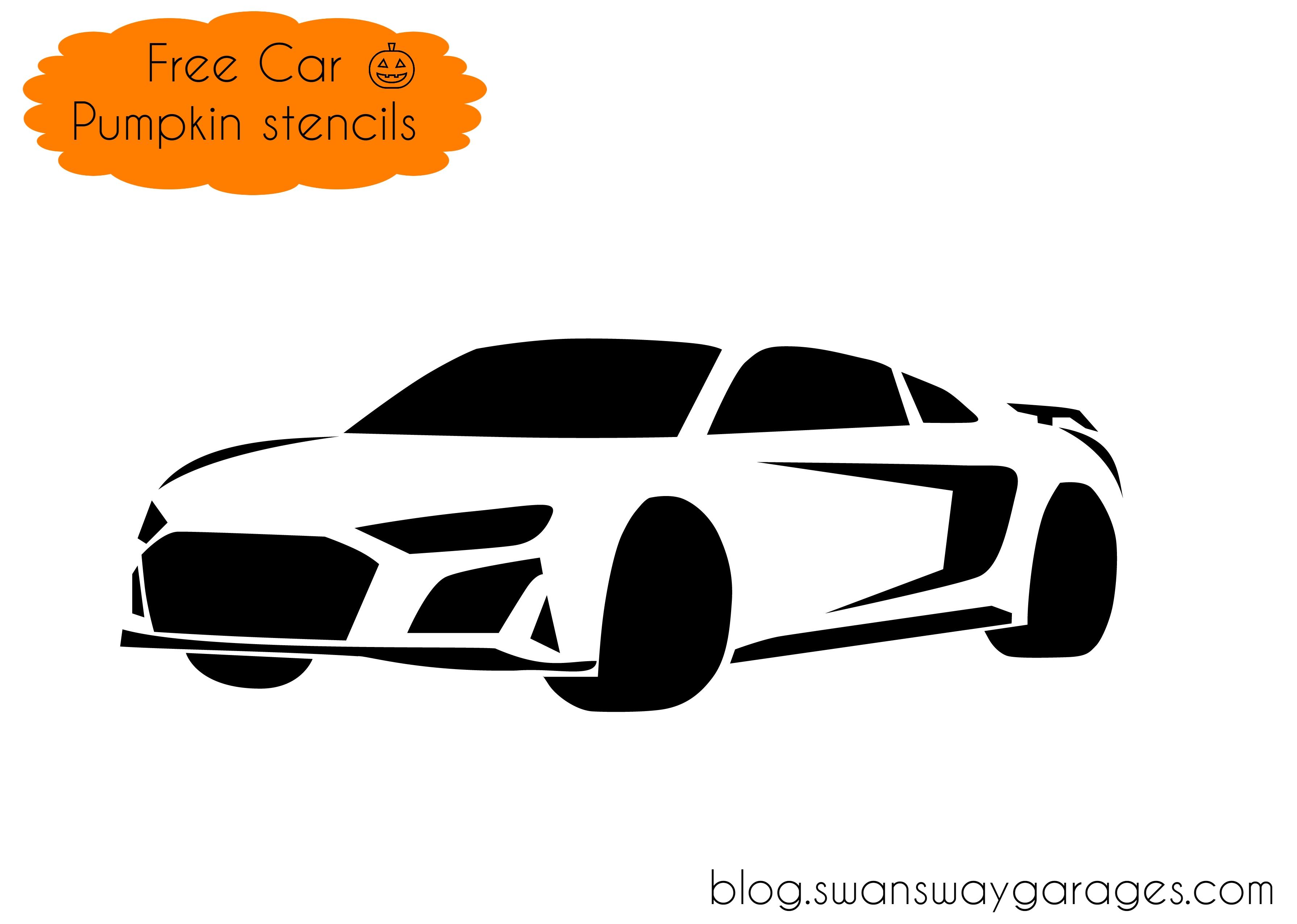 Audi R8 pumpkin stencil