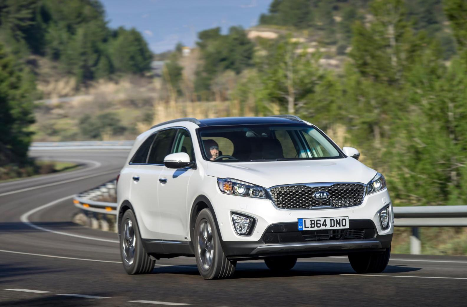Kia Sorento driving on a road