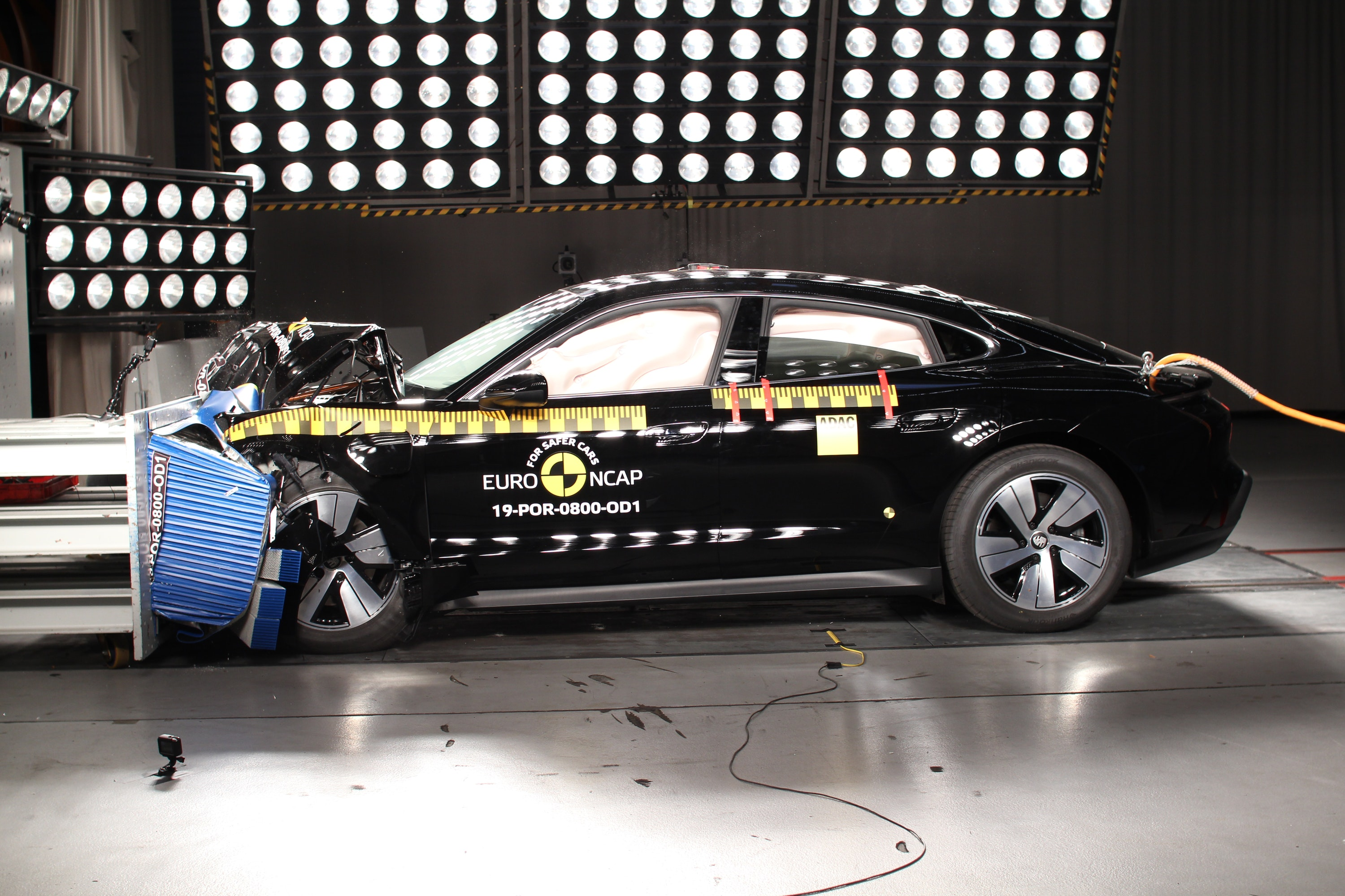 Tesla Model X at NCAP training