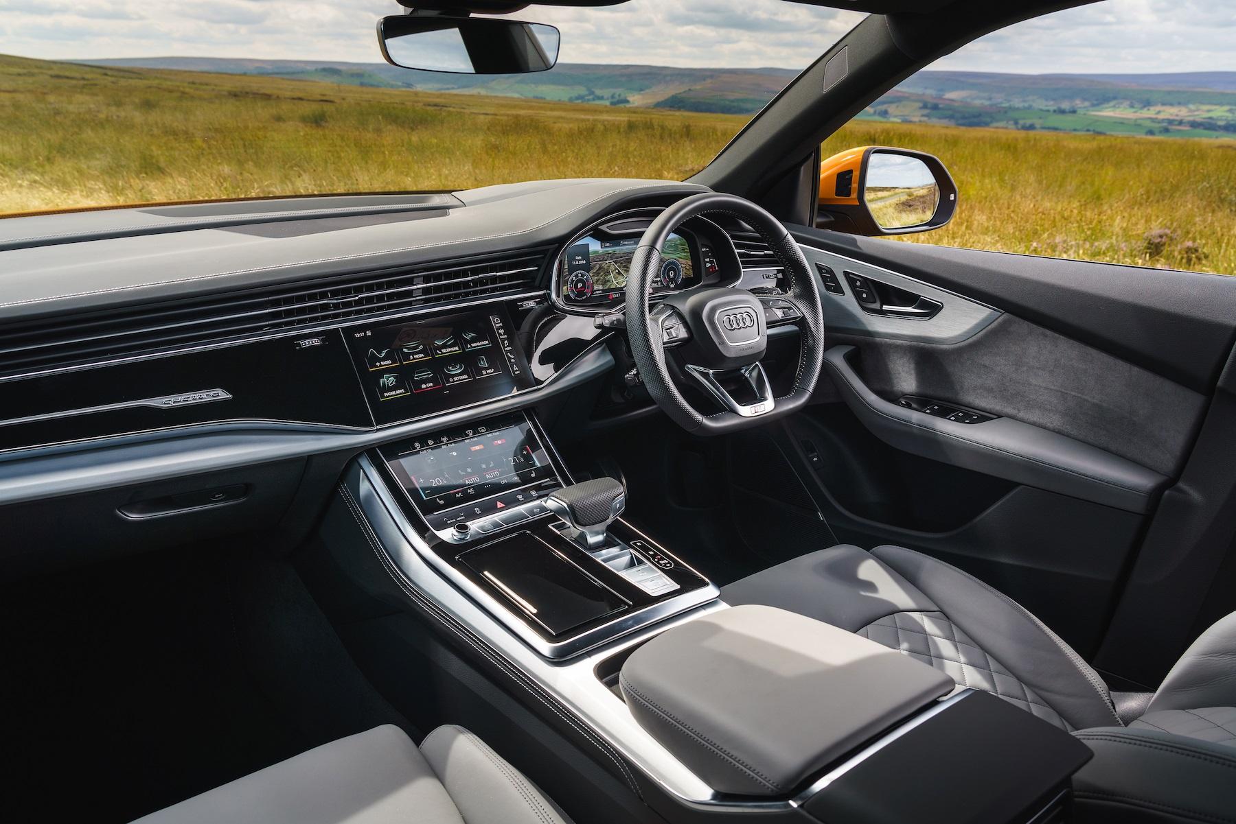Interior of Audi A7 dashboard