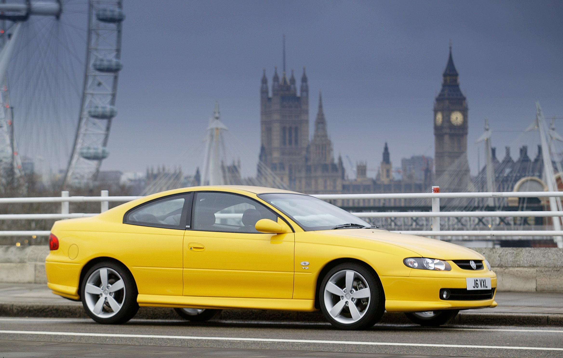 Vauxhall Monaro yellow
