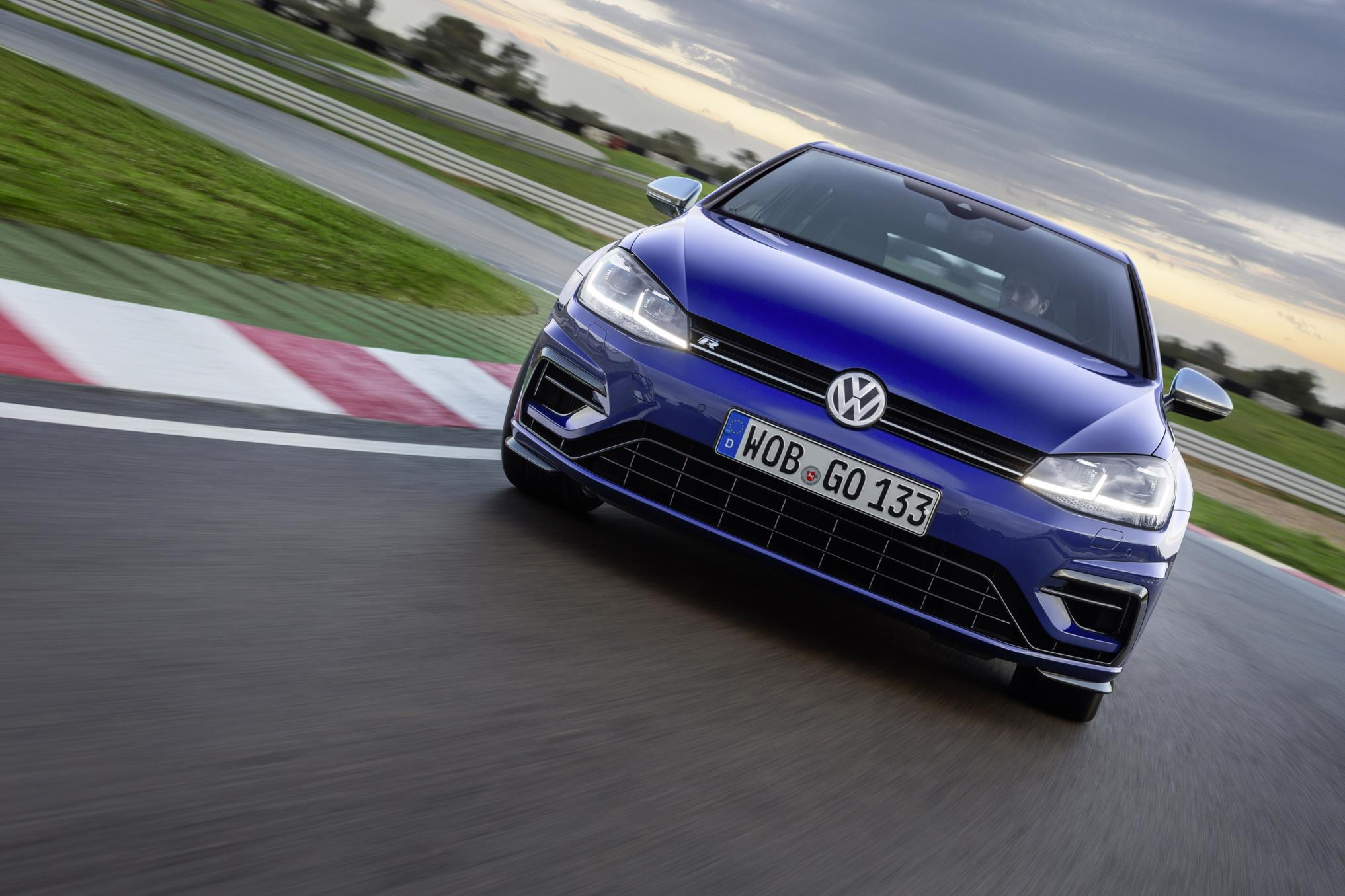 Volkswagen Golf R on a race track