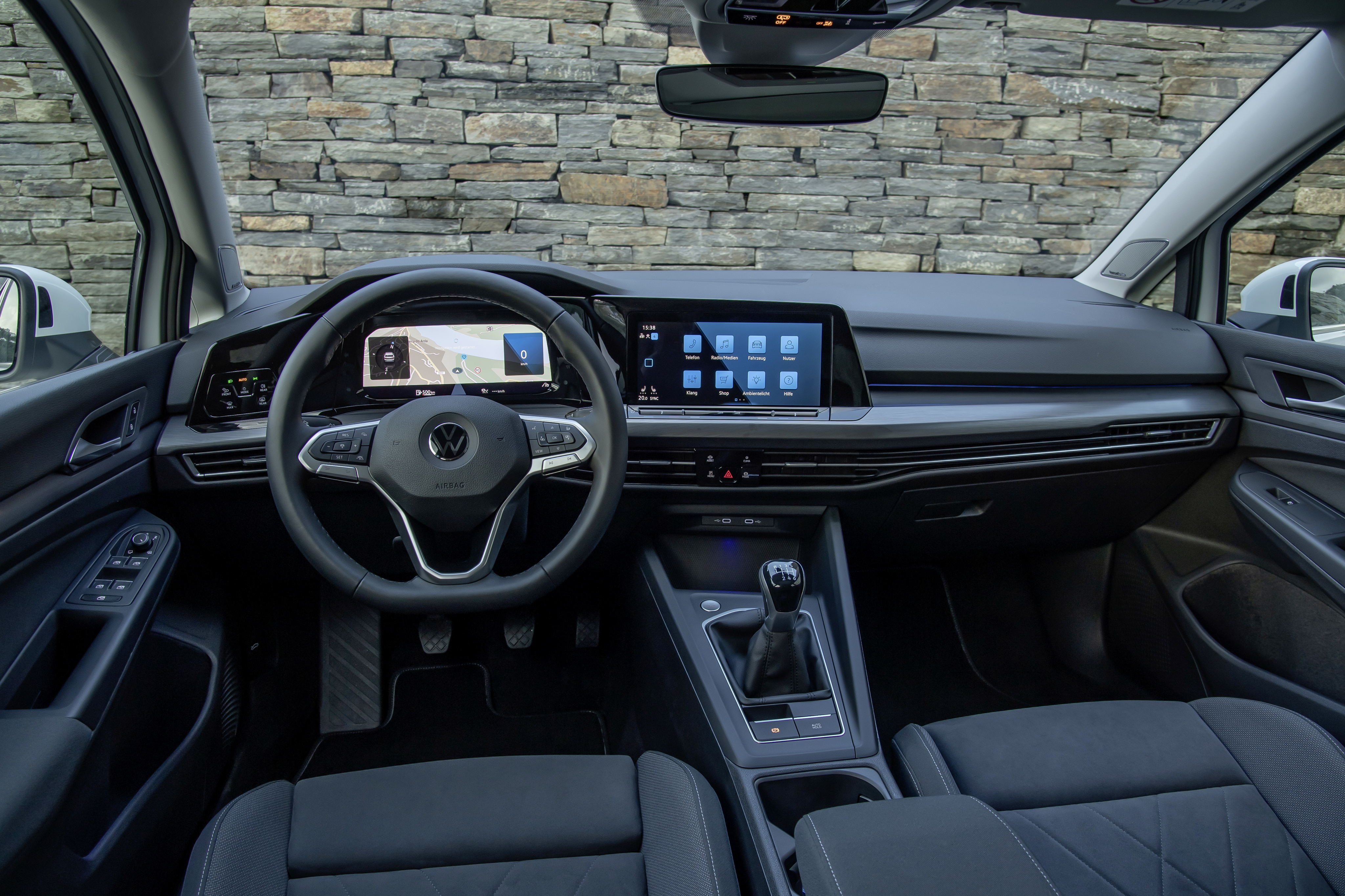 Interior of the new VW Golf 8